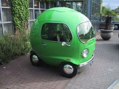 bubble-car. Cute but to me it looks like a accident waiting to happen