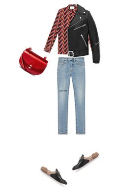 """Untitled #20"" by clment-picot on Polyvore featuring Gucci, Yves Saint Laurent and Chloé"