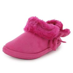 NEW WOMENS ANKLE FLAT FURRY LADIES COMFY BED SLIPPERS BOOTIES SHOES SIZE 3-8 UK #FashionNights #Casual
