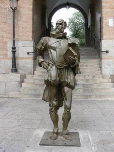 Statue of Cervantes, Toledo, SPAIN.