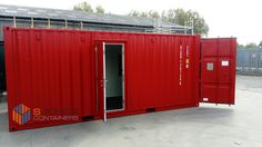 Container converted into site short stay sleeping quarters. 4 x Bunk beds, emergency exit door, extra escape window/hatch and fire extinguisher. Lined and insulated with 50mm insulation slab including the floor! Electrics including emergency lighting and hard wired smoke alarm. Container Conversions, Emergency Lighting, Smoke Alarms, Fire Extinguisher, Bunk Beds, Insulation, Garage Doors, Floor, Windows
