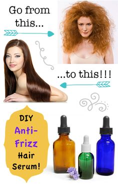 Make your own natural Anti-Frizz Hair Serum! All the smoothness of your favorite hair serum at a fraction of the cost.
