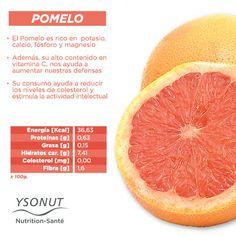 El  amargor del #pomelo nos sorprende la primera vez que lo probamos.  Descubre todo lo que te aporta y ya sabes ¡Que no falte en tu #alimentación!