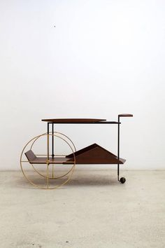 'JZ' Trolley designed by Jorge Zalszupin. Available at ESPASSO. Midcentury modern design.