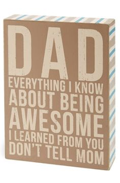 cute box sign for dad