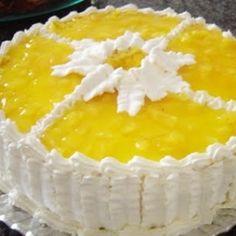 Receita de bolo gelado com recheio de abacaxi