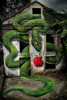 Best Graffiti & Amazing Street Art - Sokram in Ordes, Galiza, Spain (2012)