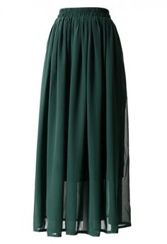 green pleat maxi.