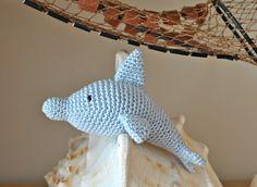 Delfín de ganchillo