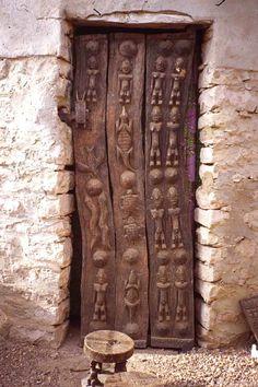 Carved wood door, Tunisia. ..rh