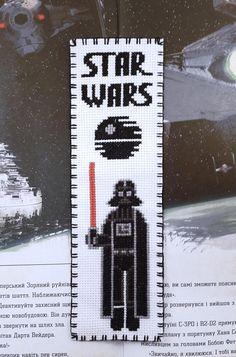 Star Wars Cross stitch bookmark pattern Star Wars: Darth