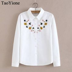 bac51d88f25 Newest Style Women s Blouses Embroidery Casual Shirts Top Good Quality Long  Sleeve White Cotton Blouse Female Blusas Women Tops - Jessikas Tops