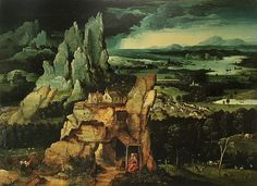 Joachim Patinir : Saint Jerome (Unknown) 1480-1524 ヨアヒム・パティニール
