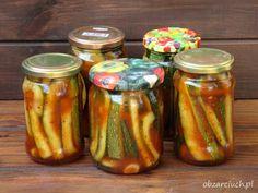Cukinia po meksykańsku na zimę - Obżarciuch Zucchini, Ketchup, Chutney, Pickles, Salad Recipes, Cucumber, Curry, Food And Drink, Cooking Recipes