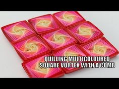 Quilling Comb, Quilling Craft, Quilling Flowers, Quilling Videos, Quilling Techniques, Paper Quilling Designs, Quilling Patterns, Beaded Bookmarks, Quilling Tutorial