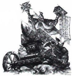 Warhammer Fantasy: Dwarf Runelord on an Anvil of Doom