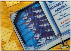 Hatteras Style Mardines sardines glass cutting by billfishart