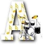Alfabeto musical con batería.