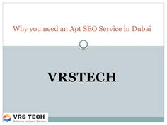 Why you need an apt seo service in