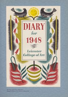 Leicester College of Art - specimen pages from a diary for 1948 by mikeyashworth