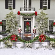 Christmas + historic homes = a perfect catalog – Boulevard West Front Door Christmas Decorations, Christmas Porch, Christmas Holidays, Christmas Wreaths, Xmas Tree, Christmas Cookies, Happy Holidays, Merry Christmas, Holiday Storage