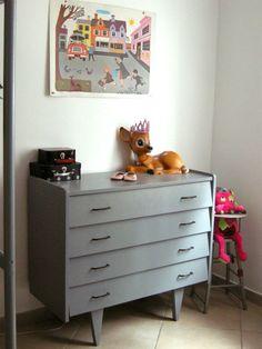 Grey vintage cabinet