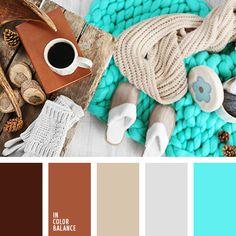 бежевый, бирюзовый и коричневый, коричневый и бирюзовый, оттенки корицы, оттенки коричневого, оттенки шоколадного, серый, цвет кофе, цвет темного шоколада, цвет шерти, цвет шоколада, шоколадный, яркий бирюзовый, яркий бирюзовый цвет.