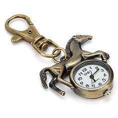 unisexe en alliage à quartz analogique trousseau montre à cheval (bronze) – EUR € 2.75