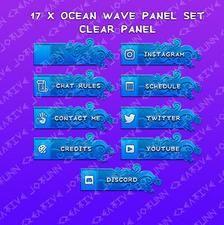 Japanese Style Twitch Overlay Waves