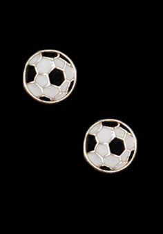 Soccer Ball Stud Earrings
