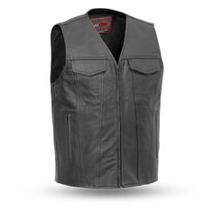 Iron Horse Vests Deadwood Gambler Naked Cowhide Zip Front Motorcycle CCW Vest in the USA Motorcycle Leather Vest, Biker Vest, Biker Leather, Motorcycle Outfit, Cowhide Leather, Leather Men, Black Denim Vest, Club Style, Outdoor Outfit