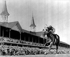 Secretariat in 1973 Kentucky Derby, My childhood hero.  I used to watch his races with my Mawmaw.  I almost bought one of his daughters once. LOL