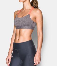 Women's Armour™ Shape Mid — Heather Sports Bra, IMPERIAL PURPLE
