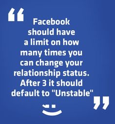 Facebook limit on Relationship status.