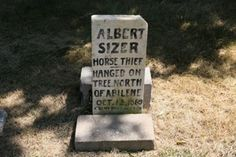 horse thief that was hanged ...