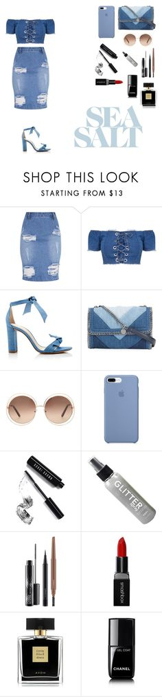 """Untitled #559"" by lala2002 ❤ liked on Polyvore featuring Alexandre Birman, STELLA McCARTNEY, Chloé, Bobbi Brown Cosmetics, MAC Cosmetics, Smashbox, Avon and Chanel"