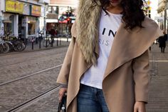 Fashion Avenue: Extra Long Beige Coat