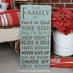 "I simply LOVE the ""Family""...it just about says it all! This would be pretty surrounded by family photographs...."