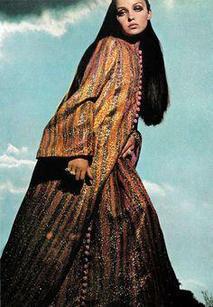 Ethnic maxi dress. Photo by Helmut Newton, 1966.
