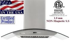 XtremeAir Wall Mount Range Hood With Temper Glass Canopy PX01-W36