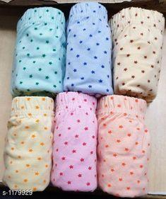 Briefs Fancy Cotton Panty (Pack Of 6) Fabric: Cotton Hosiery Waist Size:  S - 80 cm M - 85 cm L - 90 cm XL - 95 cm XXL - 100 cm Type: Stitched Description: It Has 6 Pieces Of Panties Work: Printed Country of Origin: India Sizes Available: XS, S, M, L, XL, XXL   Catalog Rating: ★4.1 (8525)  Catalog Name: Ladies Plain Multi Colour Cotton Panty Vol 1 CatalogID_147483 C76-SC1042 Code: 673-1179929-