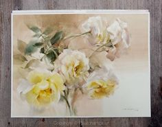 Being in Hope  #watercolor #paint #painting #art #artist #studio #class #master #rose #love #life #yellow #hope