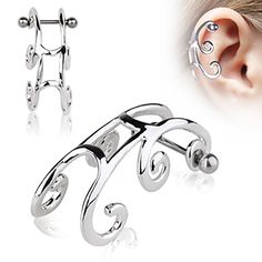 Cartilage Ring Tragus Sleigh Piercing Earring O43