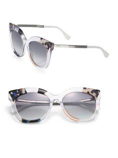 53MM Oversized Cat Eye Sunglasses by Fendi
