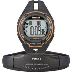 Whether youAAAre a serious athlete or a weekend warrior, make the most of your training with the help of the Timex MenAAAs Ironman Road Trainer Digital Heart Rate Monitor. This sleek, full-sized watch provides feedback on critical information like th Triathlon Watch, Ironman Triathlon, Sporty Watch, Brand Name Watches, Timex Watches, Gps Watches, Watch Model, Heart Rate Monitor, Casio Watch