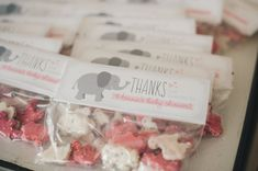 Printable Favor Tags  Pink and Gray Elephant by PrintsForEvents
