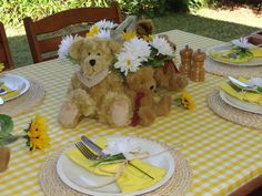 teddy bear picnic decorations - Google Search
