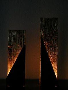 Vergoldetes Treibholz mit Stahlblech in Herne
