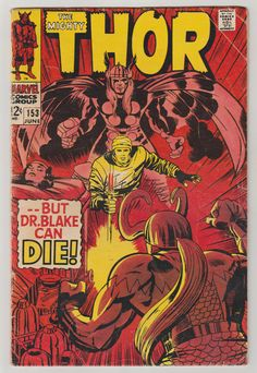 Thor Vol 1 153 Silver Age Comic Book. VG. by RubbersuitStudios #thor #stanlee #jackkirby #silveragecomics #comicsforsale