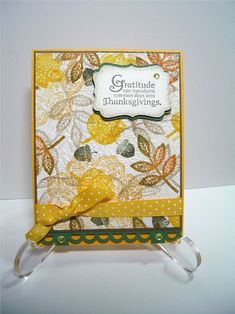 faux silk technique stampin up | Faux Silk Technique - Thanksgiving Card - using Stampin Up! Border ...